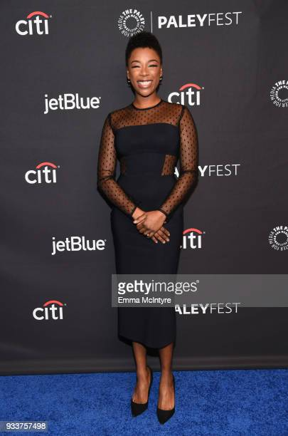 Samira Wiley attends The Paley Center For Media's 35th Annual PaleyFest Los Angeles with 'The Handmaid's Tale' at Dolby Theatre on March 18 2018 in...