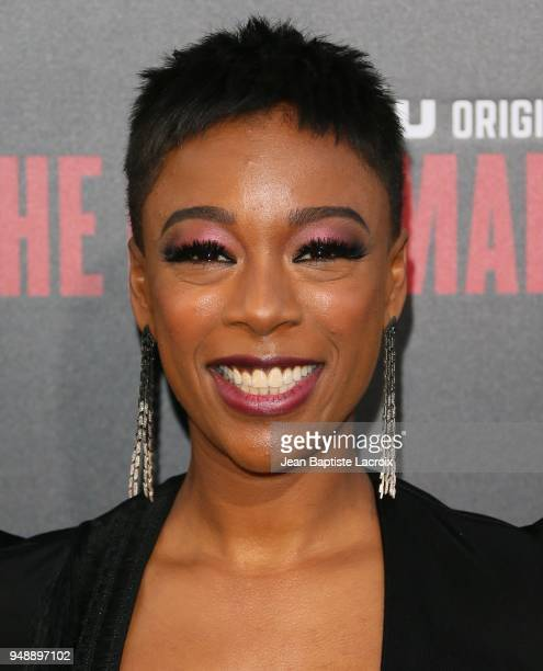 Samira Wiley attends the premiere of Hulu's 'The Handmaid's Tale' on April 19 2018 in Hollywood California