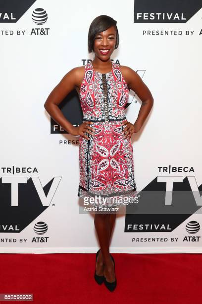 Samira Wiley attends the Tribeca TV Festival series premiere of Ryan Hansen Solves Crimes on Television at Cinepolis Chelsea on September 23 2017 in...
