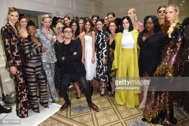 Samira Wiley Coco Rocha Chrisitan Siriano Alexa Chung Morena Baccarin Juliette Lewis Cara Santana Leigh Lezark and Danielle Brooks attend the...