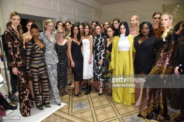 Samira Wiley Coco Rocha Lauren Morelli Morena Baccarin Alexa Chung Juliette Lewis Cara Santana Leigh Lezark and Danielle Brooks attends the Christian...