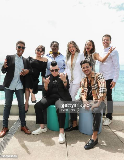 Samira Wiley Yael Stone Danielle Brooks Lea Delaria Danii Minogue Alisha Boe Christian Navarro and Jonathan Groff celebrate Mardi Gras at Bondi Beach...