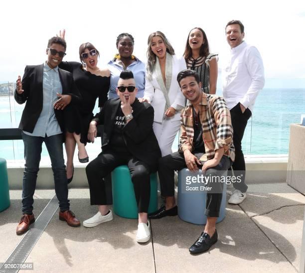 Samira Wiley Yael Stone Danielle Brooks Lea Delaria Dannii Minogue Alisha Boe Christian Navarro and Jonathan Groffat Sydney Harbour on March 2 2018...