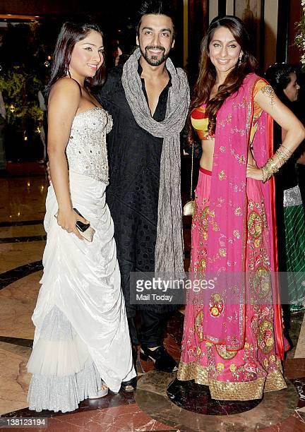 Samita Bangargi Aashish Chaudhary and Anusha Dandekar during the sangeet ceremony of Riteish Deshmukh and Genelia D souza at Taj Lands End in Mumbai...