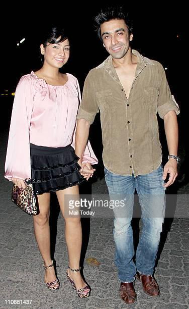 Samita Bangargi and Aashish Chaudhary arrives at the birthday bash of Kangana Ranaut at Santacruz Mumbai on 22nd March 2011