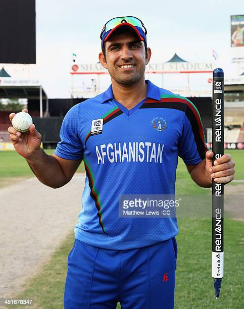 Samiullah Shenwari of Afghanistan pictured after taking five wickets during the ICC World Twenty20 Qualifier between Afghanistan and Kenya at Sharjah...