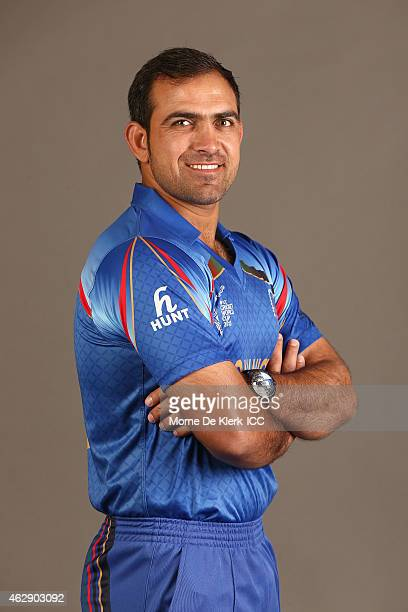 Samiullah Shinwari poses during the Afghanistan 2015 ICC Cricket World Cup Headshots Session at the Intercontinental on February 7 2015 in Adelaide...