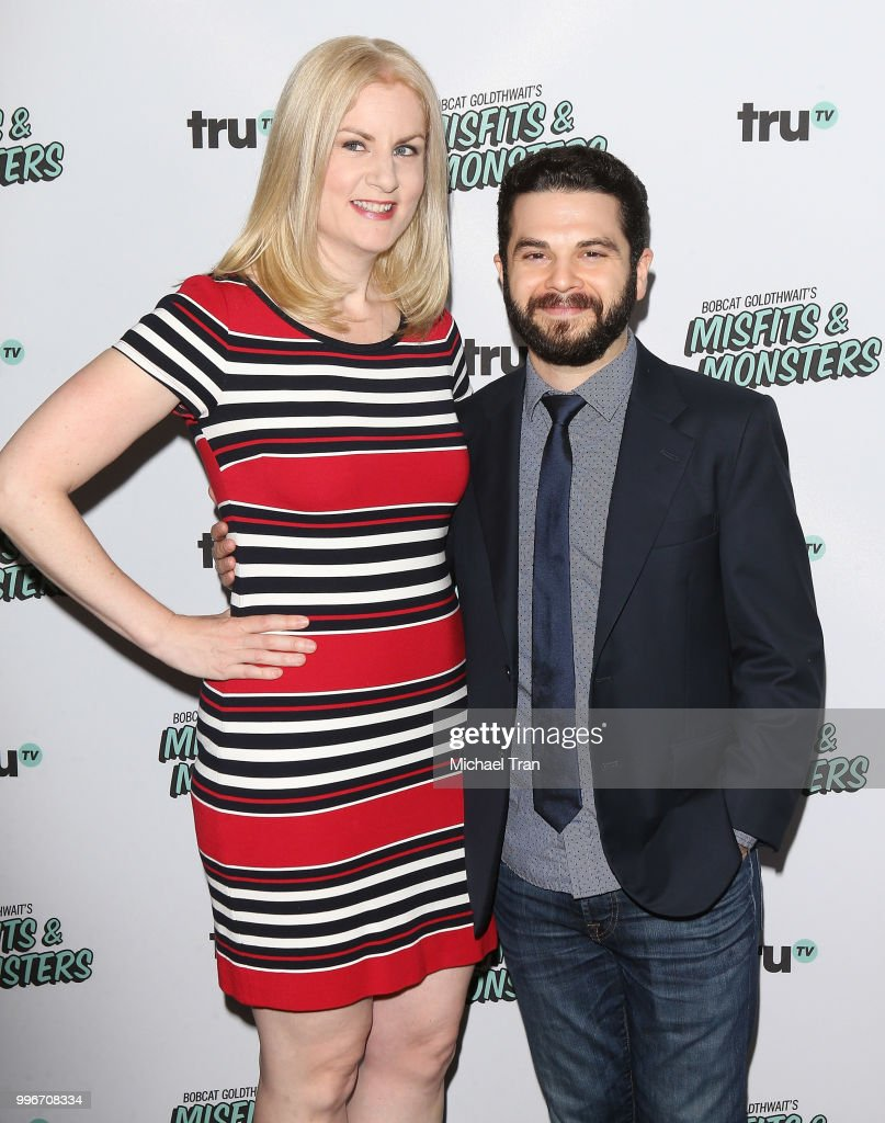 Samm Levine (R) attends the Los Angeles premiere of truTV's 'Bobcat Goldthwait's Misfits & Monsters' held at Hollywood Roosevelt Hotel on July 11, 2018 in Hollywood, California.