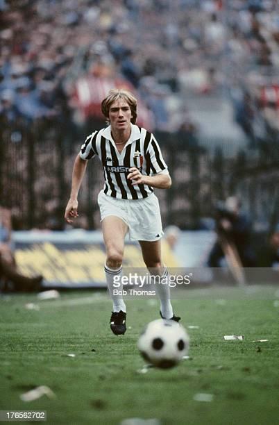 Sammarinese footballer Massimo Bonini of Juventus during a Serie A match against AC Milan at the San Siro Stadium in Milan 4th October 1981 Juventus...