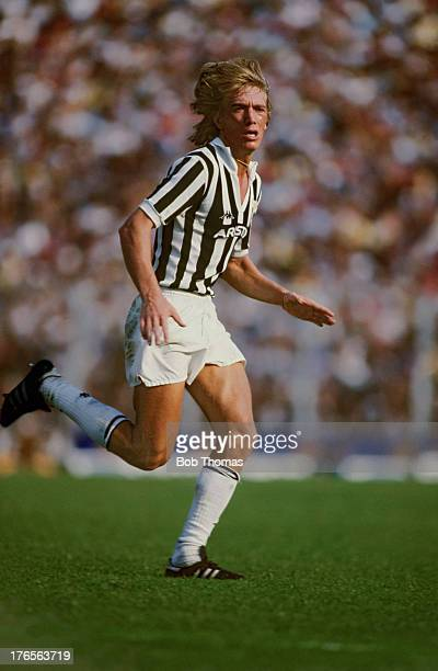 Sammarinese footballer Massimo Bonini of Juventus during a Serie A match against Sampdoria at the Stadio Luigi Ferraris in Genoa 12th September 1982...
