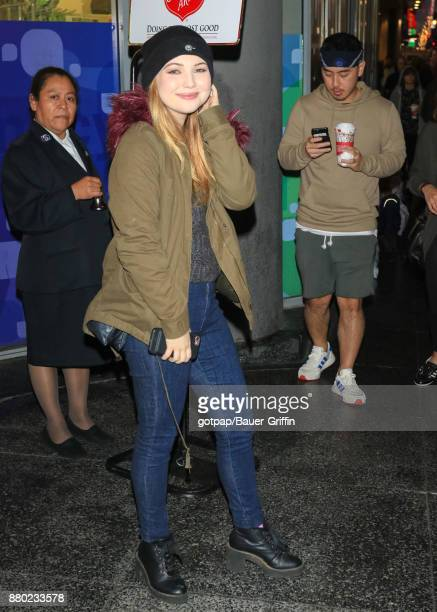Sammi Hanratty is seen arriving at 86th Annual Hollywood Christmas Parade on November 26 2017 in Los Angeles California