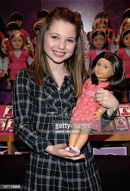 Sammi Hanratty promotes the 2009 Girl of the Year Doll and the HBO Film 'An American Girl Chrissa Stands Strong'at the American Girl Place on January...