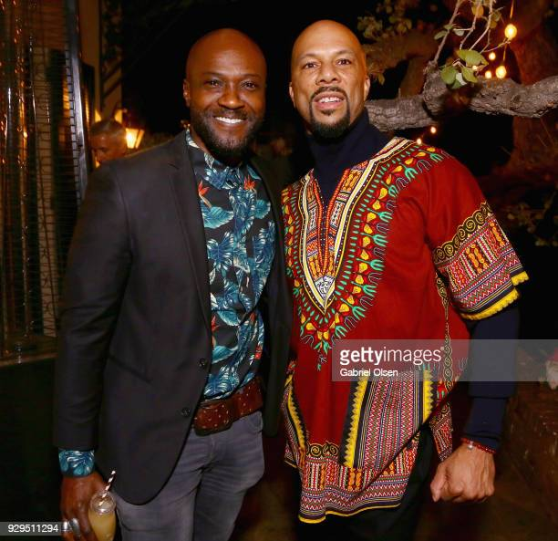 Sammi Rotibi and Common attend The African Getdown Hosted by Common at the Private Residence of Jonas Tahlin CEO Absolut Elyx on March 8 2018 in Los...