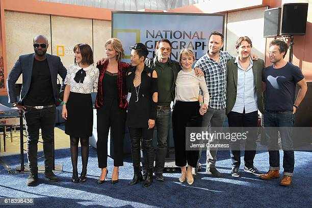 Sammi Rotibi Clementine Poidatz Cosima Shaw Jihae Anamaria Marinca Ben Cotton Alberto Ammann and John Light attend the National Geographic Channel...