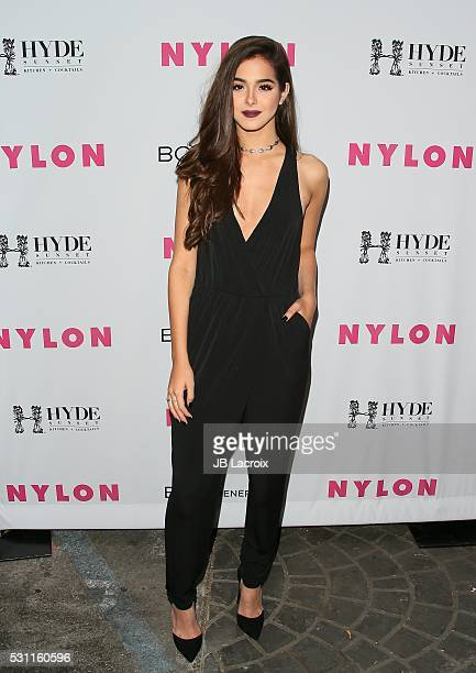 Sammi Sanchez attends the NYLON and BCBGeneration's Annual Young Hollywood May Issue Event on May 12 2016 in West Hollywood California