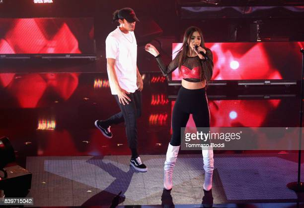 Sammi Sanchez performs onstage during MTV Taco Bell present 'Best New Artist' Night for 'VMA Weekend' at Avalon on August 26 2017 in Hollywood...