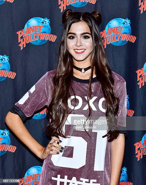 Sammi Sanchez visits Planet Hollywood Times Square on August 24 2015 in New York City