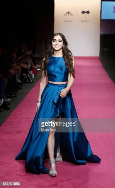 Sammi Sanchez walks the runway during Nolcha Shows Runway New York Fashion Week 2017 PromGirl / PromGuy at ArtBeam on February 13 2017 in New York...