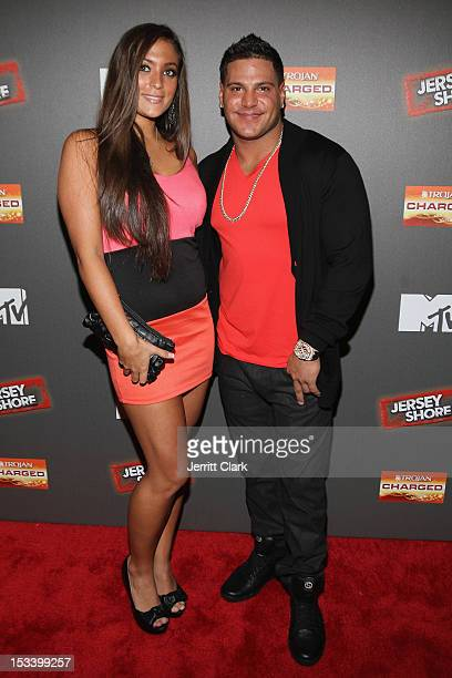 Sammi 'Sweetheart' Giancola and Ronnie OrtizMagro attends the 'Jersey Shore' Final Season Premiere at Bagatelle on October 4 2012 in New York City
