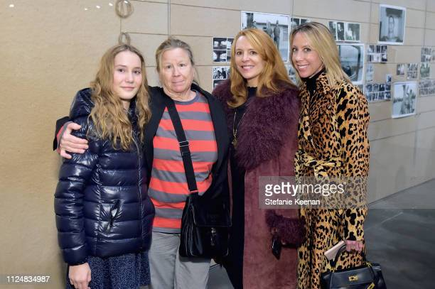 Sammie Leibovitz Lora Zarbuin Eve Martha McCuly and Eve Gerber attend Hauser Wirth Los Angeles Opening of Annie Leibovitz and Piero Manzoni and...