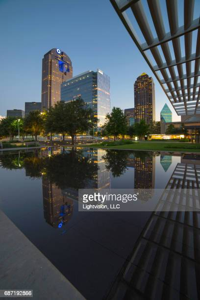 Sammons Park in Dallas, Texas Downtown Skyline Reflection