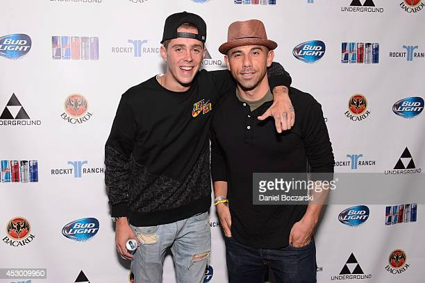 Sammy Adams and Billy Dec attend during Lollapalooza Weekend at The Underground on July 31 2014 in Chicago Illinois