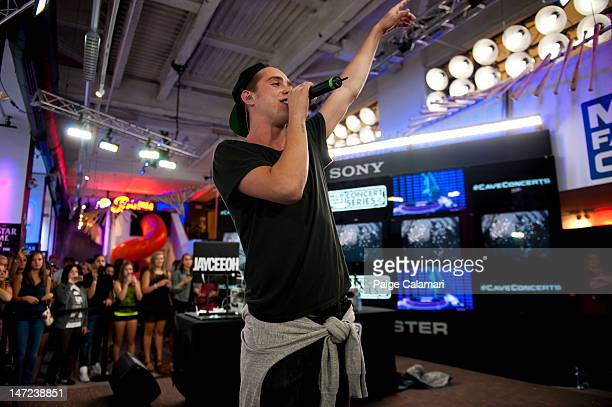 Sammy Adams performs at the MLB Fan Cave Tuesday June 26 at Broadway and 4th Street in New York City