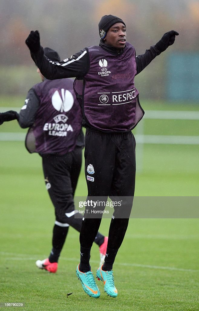 Sammy Ameobi during a Newcastle United training session at the Little Benton training ground on November 21, 2012, in Newcastle upon Tyne