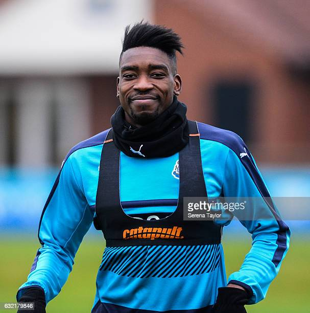 Sammy Ameobi during the Newcastle United Training Session at The Newcastle United Training Centre on January 20 2017 in Newcastle upon Tyne England