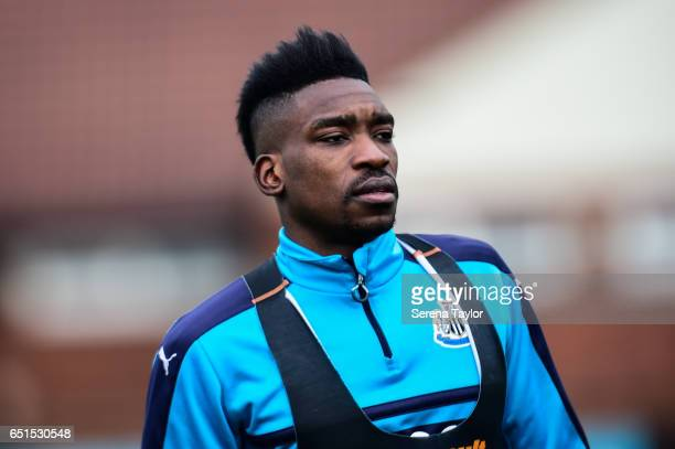Sammy Ameobi during the Newcastle United Training Session at The Newcastle United Training Centre on March 10 2017 in Newcastle upon Tyne England
