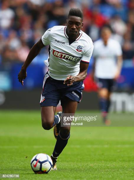 Sammy Ameobi of Bolton Wanderers in action during the pre season friendly match between Bolton Wanderers and Stoke City at Macron Stadium on July 29...