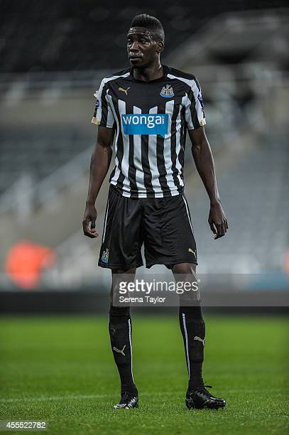 Sammy Ameobi of Newcastle during the Barclays Under 21 Premier League Match between Newcastle United and Wolverhampton Wanderers at StJames' Park on...