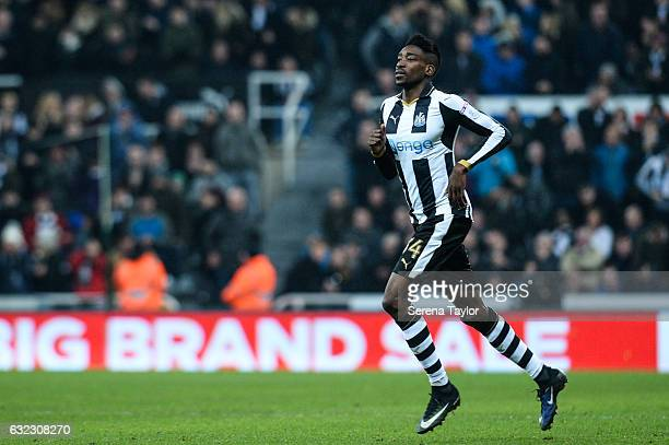 Sammy Ameobi of Newcastle United runs on the pitch as substitute during the Sky Bet Championship match between Newcastle United and Rotherham United...