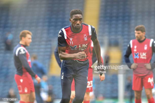 Sammy Ameobi of Nottingham Forest before the Sky Bet Championship match between Blackburn Rovers and Nottingham Forest at Ewood Park Blackburn...