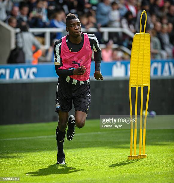 Sammy Ameobi runs during a Newcastle United Training Session at StJames' Park on August 12 in Newcastle upon Tyne England