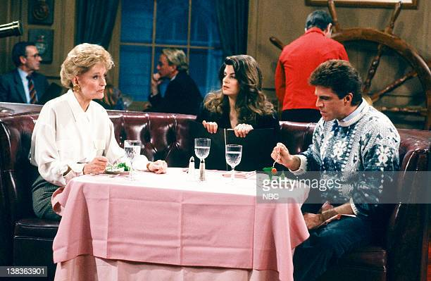 CHEERS 'Sammy and the Professor' Episode 13 Air Date Pictured Alexis Smith as Alice Anne Volkman Kirstie Alley as Rebecca Howe Ted Danson as Sam...