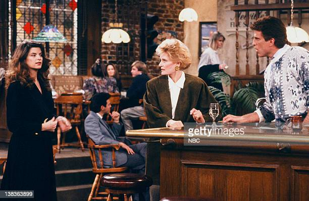 CHEERS 'Sammy and the Professor' Episode 13 Air Date Pictured Kirstie Alley as Rebecca Howe Alexis Smith as Alice Anne Volkman Ted Danson as Sam...