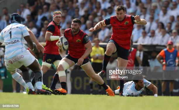 Sammy Arnold of Munster breaks with the ball during the European Rugby Champions Cup SemiFinal match between Racing 92 and Munster Rugby at Stade...