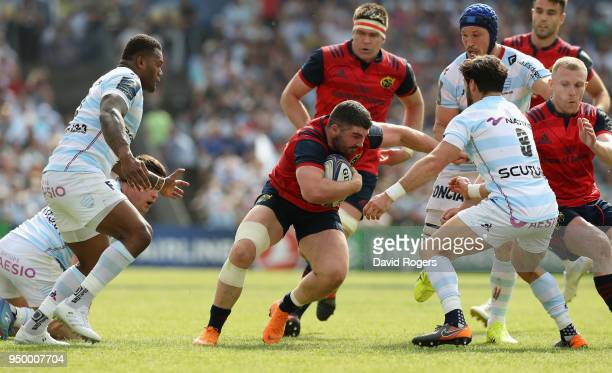 Sammy Arnold of Munster charges upfield during the European Rugby Champions Cup SemiFinal match between Racing 92 and Munster Rugby at Stade...