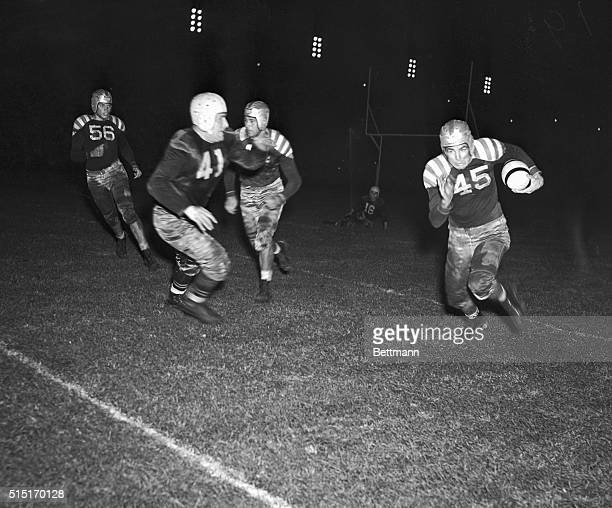 Sammy Baugh of Texas Christian is shown as he returned a punt in the third quarter of the AllStars Green Bay Packers game at Soldier Field Chicago...