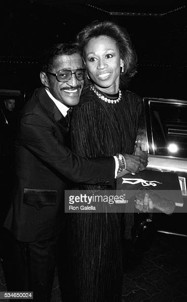 Sammy Davis Jr and Altovise Davis attend Second Annual Vision Awards Honoring Sammy Davis Jr on May 10 1983 at the Beverly Hilton Hotel in Beverly...