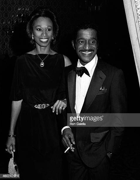 Sammy Davis Jr and Altovise Davis attend The Candy Man Ball on January 16 1982 at the Beverly Hilton Hotel in Beverly Hills California