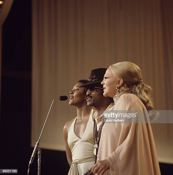 Sammy Davis Jr and Peggy Lee perform at the 'We Love You Madly' Duke Ellington tribute television show filmed in Hollywood on January 13 1973