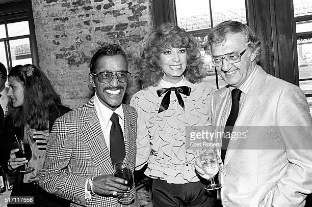 Sammy Davis Jr with Dottie West and unknown at a Kenny Rogers party in Brooklyn New York on September 26 1980