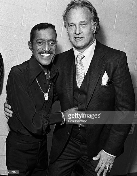 Sammy Davis Jr with NFL Hall of Fame member Paul Hornung backstage during the Atlanta Missing and Murdered Child Benefit at Civic Center in Atlanta...