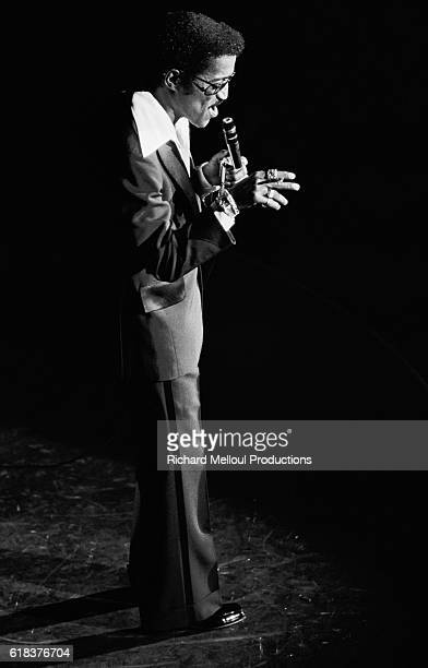 Sammy Davis Junior on stage at the Olympia concert Hall in Paris in 1976
