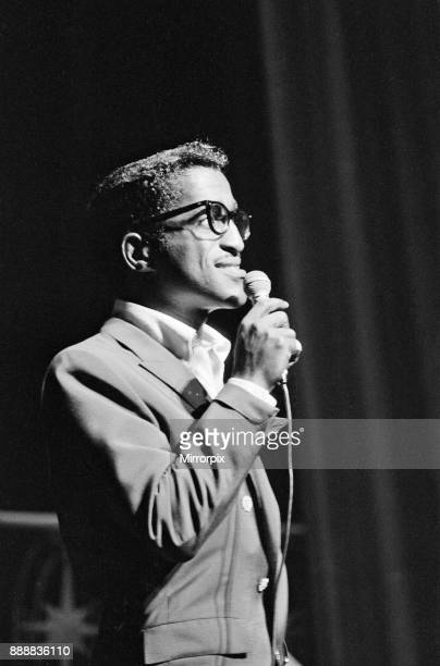 Sammy Davis Junior sings at The Royal Variety Show held in the presence of her Her Majesty Queen Elizabeth II and His Royal Highness The Duke of...