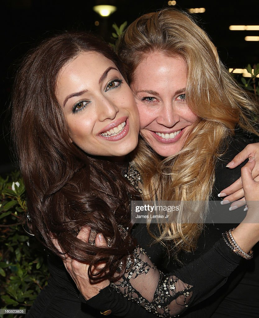 Sammy Durrani and Kathleen Kinmont attend 'The Devil's Dozen' Special Screening on February 1, 2013 in Los Angeles, California.