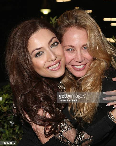 Sammy Durrani and Kathleen Kinmont attend The Devil's Dozen Special Screening on February 1 2013 in Los Angeles California