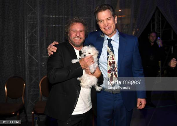 Sammy Hagar and Chris Isaak attend the 24th annual Keep Memory Alive 'Power of Love Gala' benefit for the Cleveland Clinic Lou Ruvo Center for Brain...